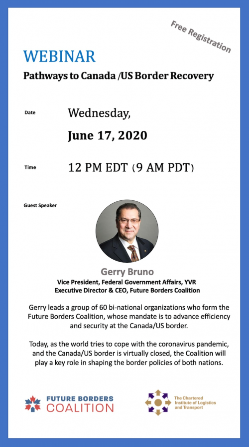 REGISTER NOW - June 17, 2020 Webinar hosted by the Chartered Institute Logistics and Transport North America (CILTNA)