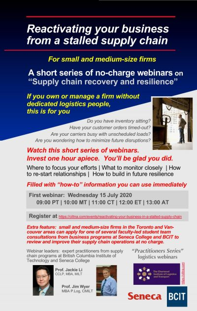 """Reactivating Your Business From a Stalled Supply Chain - """"Practitioners Series"""" webinar"""