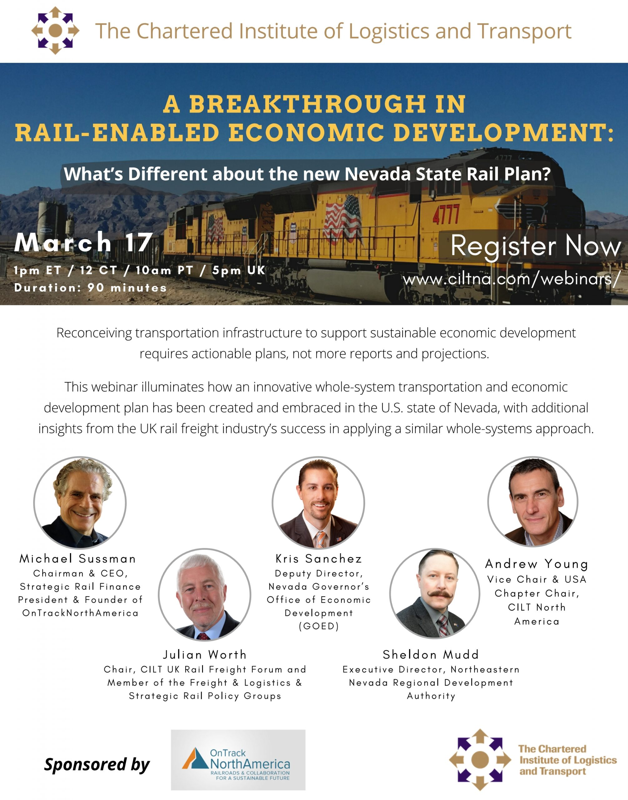 A Breakthrough in Rail-Enabled Economic Development: What's Different about the new Nevada State Rail Plan? - sponsored by OnTrackNorthAmerica