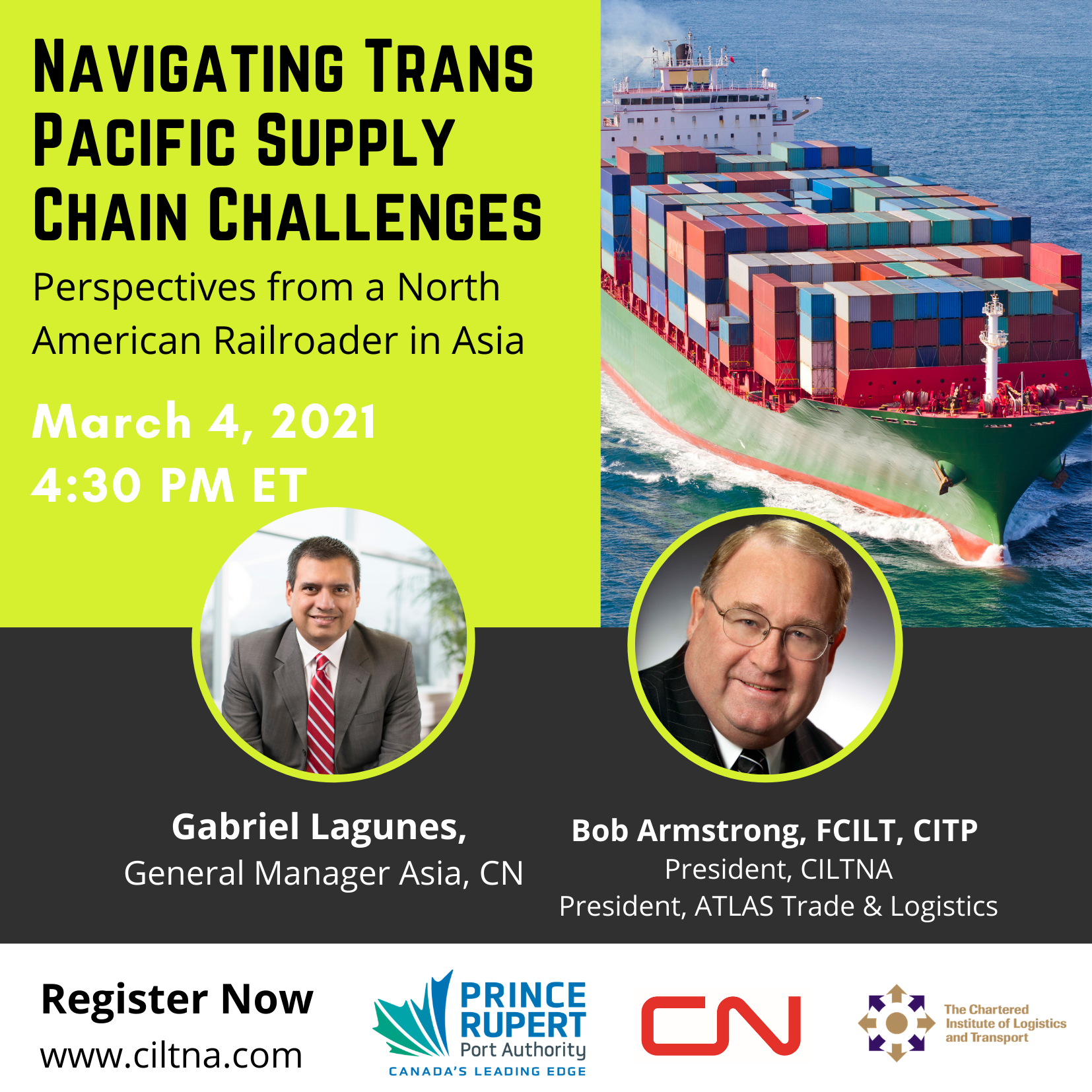 Navigating Trans-Pacific Supply Chain Challenges: Perspectives from a North American Railroader in Asia - sponsored by Prince Rupert Port Authority